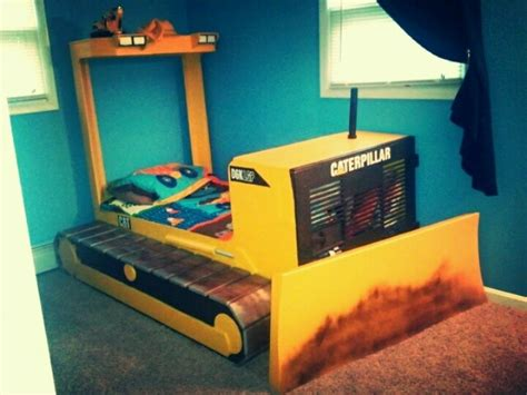 bulldozer bed fun kids bedroom themes pinterest