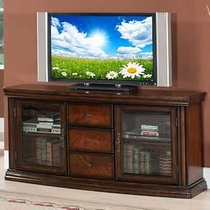 60quot Ash Burl Parquet Media TV Stand At Big Lots Local