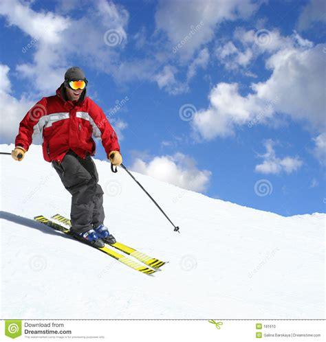 Chambre Nature - skieur sur une pente photo stock image 181610