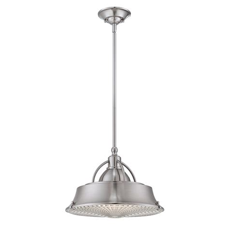 industrial style ceiling pendant light in brushed nickel
