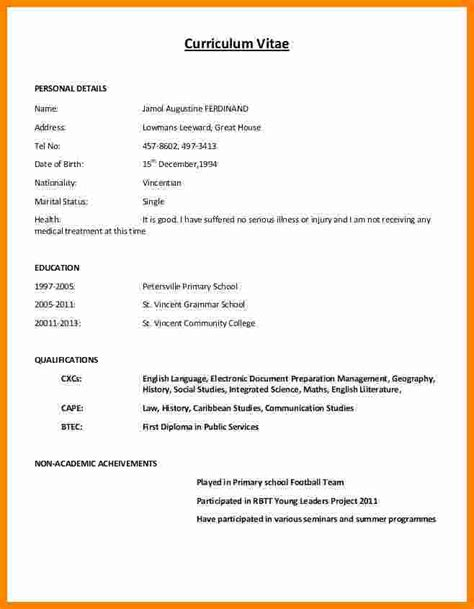 Copy Of Cv Format by 11 Cv Formatt Writting Theorynpractice