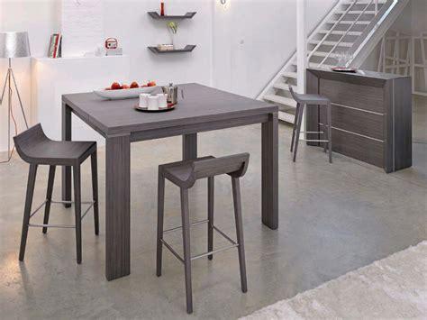 tables hautes de cuisine table et chaise de cuisine grise