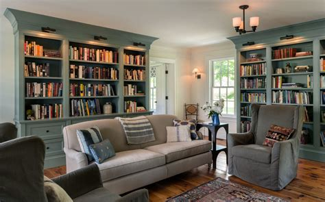 Living Room Library by 8 Library Family Rooms On The Drawing Board