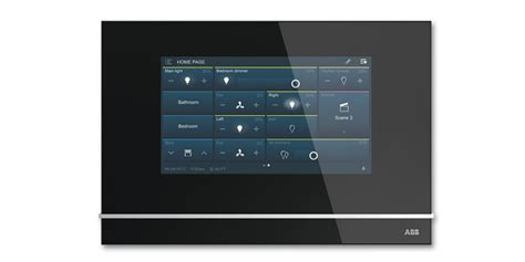 abb launch new knx touchscreen dali gateway and led