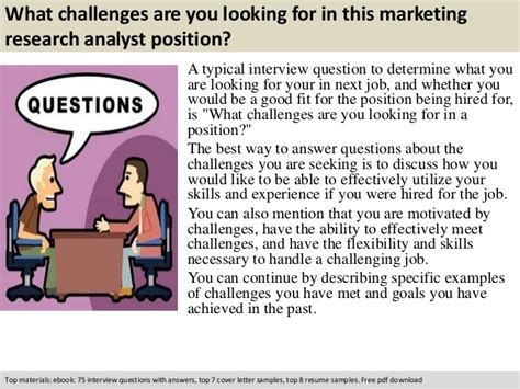 Marketing Analyst Questions by Marketing Research Analyst Questions