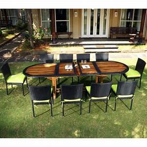 Table Teck Jardin : salon de jardin teck et resine tressee meuble tables de jardin en promotion ~ Teatrodelosmanantiales.com Idées de Décoration