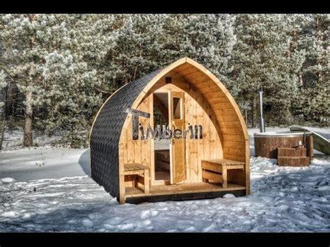 Gartensauna Kaufen  Fass Sauna Mit Holzofen & Vorraum