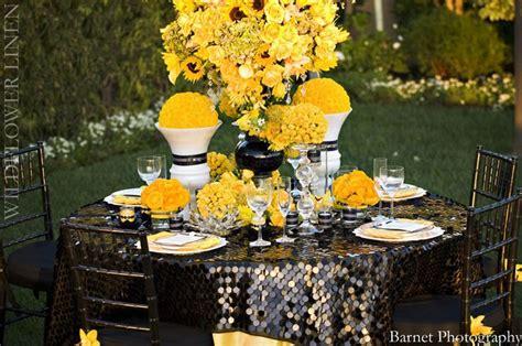 black and yellow wedding decor purdue weddings pinterest