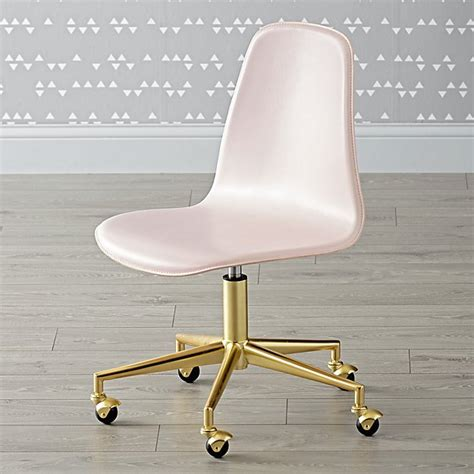 class act pink gold desk chair the land of nod
