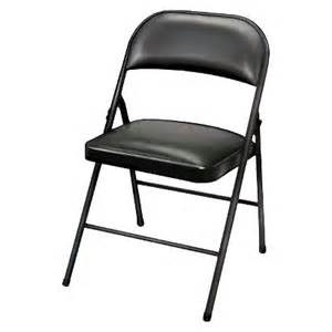 folding chair vinyl padded black target