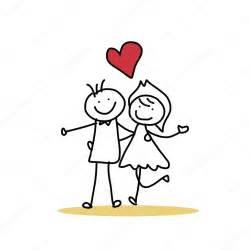 dessin de mariage mano disegno di sposi felici vettoriali stock atthameeni 43028965