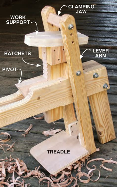 build  shaving horse diy hybrid shaving horse plans