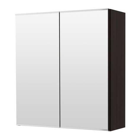 lill 197 ngen mirror cabinet with 2 doors black brown ikea