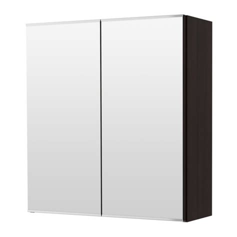 lill 197 ngen mirror cabinet with 2 doors black brown ikea