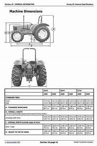 Deer Tractors 5415  5615  And 5715 Sevice Repair Technical
