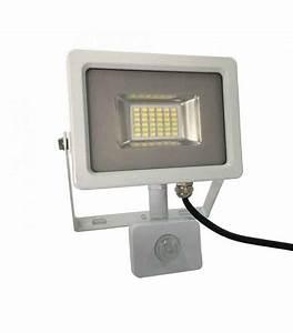 Projecteur Led Detecteur De Mouvement : projecteur blanc avec d tecteur de mouvement 20w quiv ~ Dailycaller-alerts.com Idées de Décoration