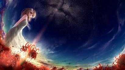 Anime Sky Fantasy Stars Artwork Sunlight Space
