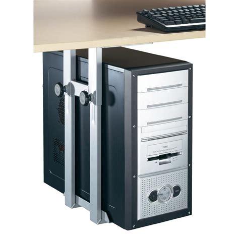 barre de pour pc de bureau support de pc pour fixation sous le bureau iph002 s gris