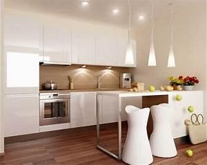 Kleine Küchen Einrichten : k chen einrichten ideen mit moderne k chenm bel wei hochglanz beste hause ~ Indierocktalk.com Haus und Dekorationen