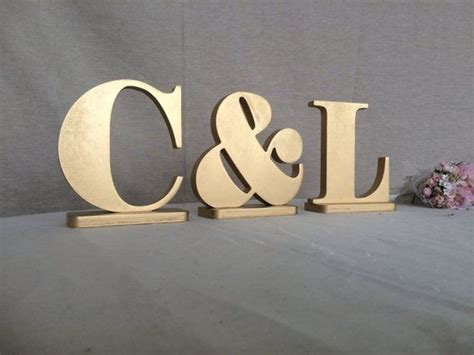 initials gold wooden letters gold monogram wedding table decor photo prop letters wood wedding