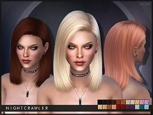 Sims 4 Hairs The Sims Resource Crow Hair By Nightcrawler
