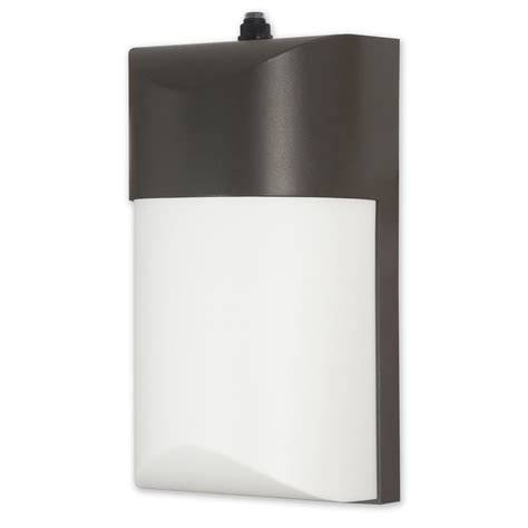 dusk to dawn light lowes shop utilitech pro 10 4 watt bronze led dusk to dawn