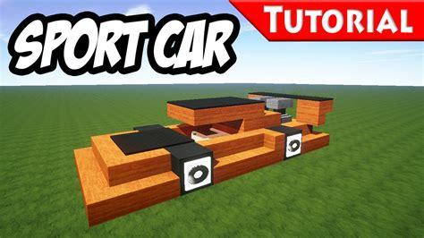 minecraft sports car minecraft easy sport race car tutorial ferrari style