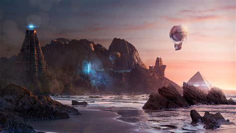 Sci-Fi/Fantasy Landscape on Behance