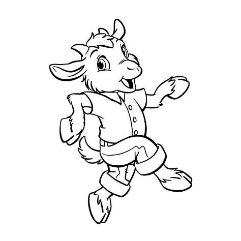 Geitje Kleurplaat leuk voor geitje benjamin