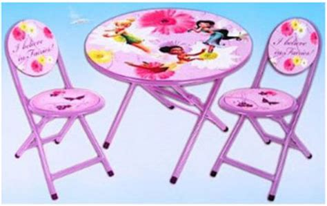 disney fairies tinkerbell folding table and chairs