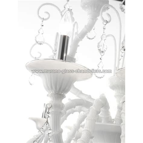 quot inverno quot white murano glass chandelier murano glass