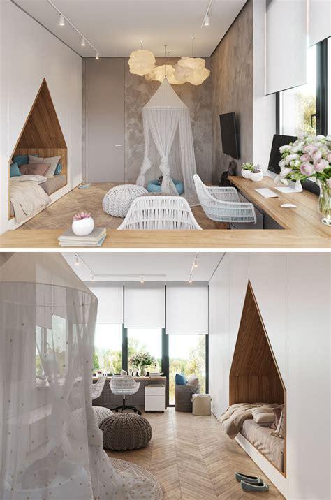bedroom design   teenager features  bed built