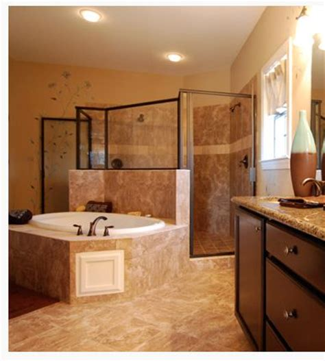 master bathroom tub  walk  shower