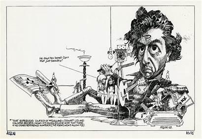 Aislin Montreal Cartoons Leonard Cohen Cartoonist 1969