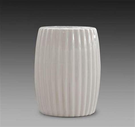 chinese antique ceramic white garden stool seat  indoor