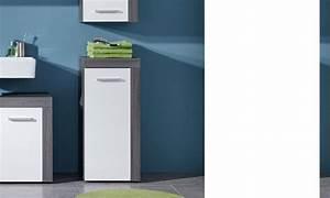 Meuble Blanc Et Gris : meuble bas de salle de bains gris et blanc banita ~ Dailycaller-alerts.com Idées de Décoration