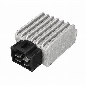 4 Pin 12v Voltage Regulator Rectifier For Gy6 50cc 125cc