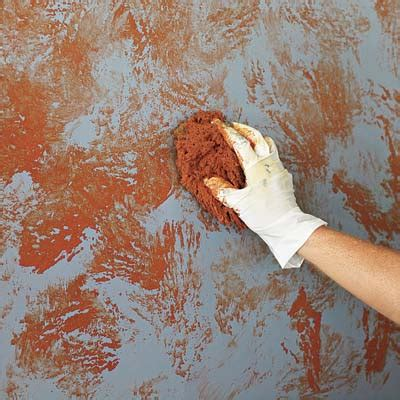 how to sponge paint sponge on the first top coat color how to sponge paint a wall this old house