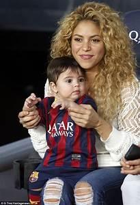 Shakira cheers on husband Gerard Pique alongside baby ...