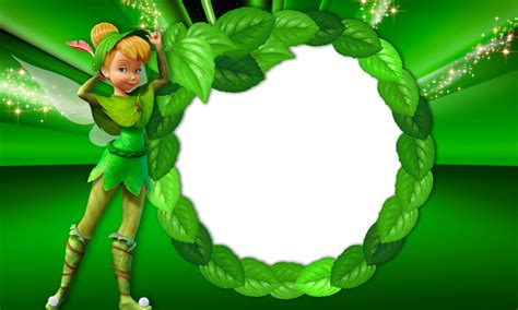 green transparent kids frame  tinkerbell fairy
