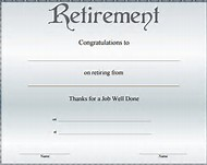 Best 25 ideas about retirement certificate find what youll love retirement certificate template free yadclub Choice Image