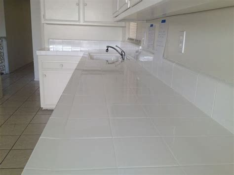 white tile kitchen countertops 17 best images about countertop reglazing on 1474