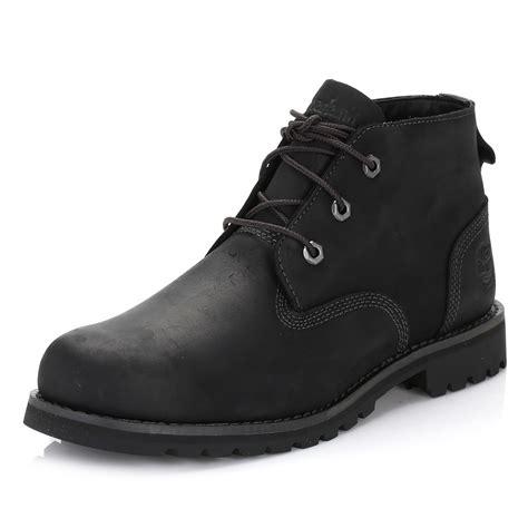 timberland mens chukka boots black leather larchmont waterproof shoes a11ei ebay