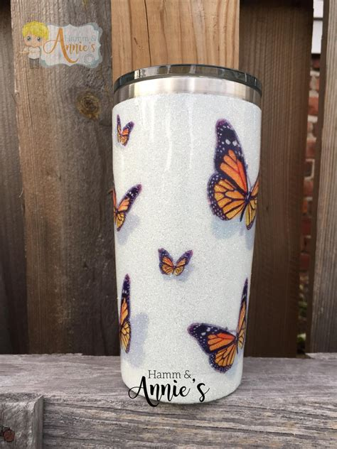 hamm  annies  monarch butterfly oz stainless tumbler