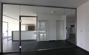 Raumteiler Aus Glas : glas trennwand nach ma f r b ro und praxis glasprofi24 ~ Frokenaadalensverden.com Haus und Dekorationen