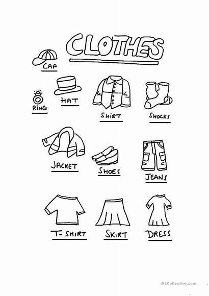 Clothes Esl Worksheets English Worksheet Vocabulary Printable