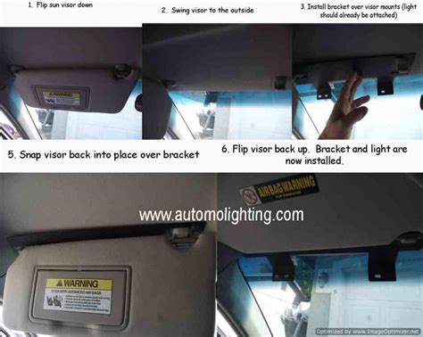 34 quot split sun visor led deck dash strobe lightbar