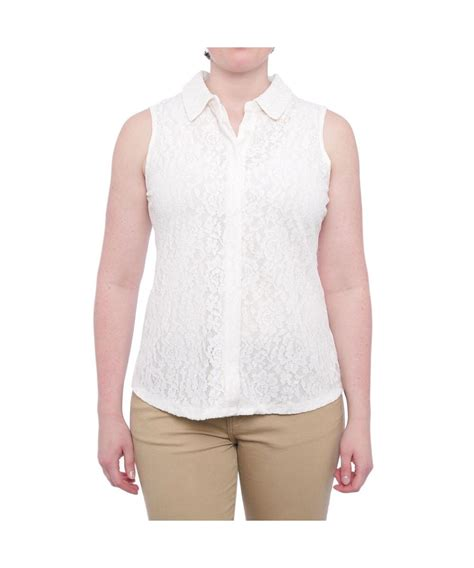 sleeveless button blouse charter lace sleeveless button blouse