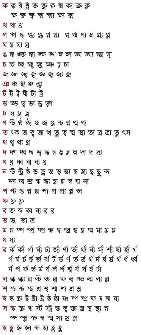 bengali consonant clusters wikipedia