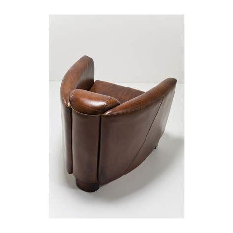canapé cuir de qualité fauteuil vintage en cuir marron cigar lounge kare design